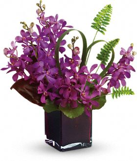 10 Purple Mukara Orchids Delivery in Sharjah and Ajman
