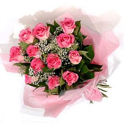 Pink rose Hand Bouquet (12 Numbers)