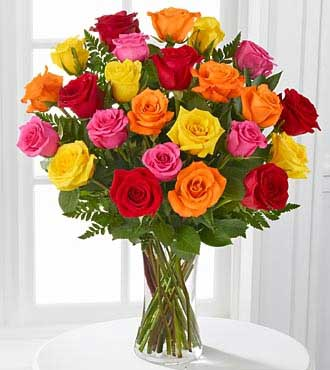 Radiance-Mixed Rose Vase Delivery as Gift in Sharjah