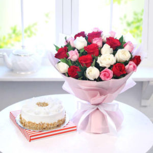 Cake Flowers As Gift To Deliver In Sharjah Same Day Delivery